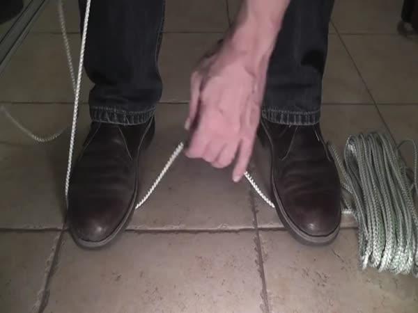 Návod - Přeříznutí lana bez nože