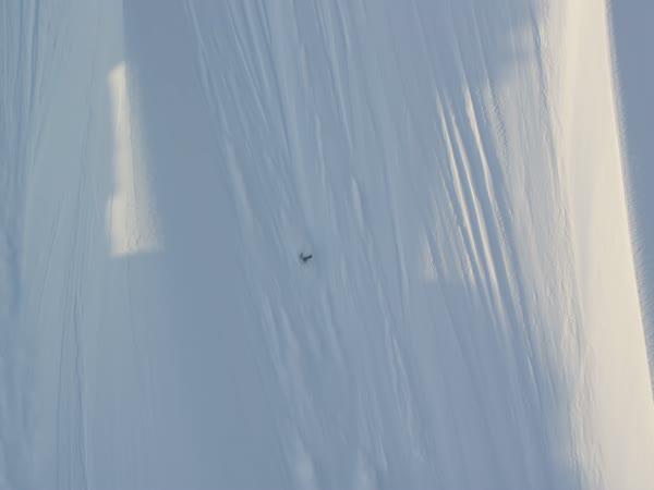 Půlkilometrový pád na lyžích