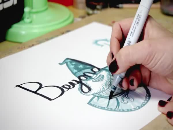 Umělkyně v dokreslování