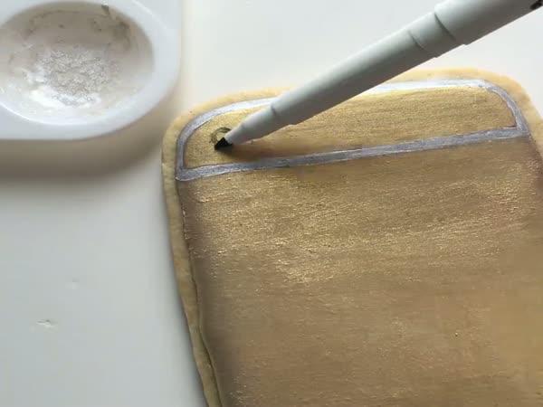 Ozdobený perníček iPhone