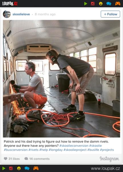 GALERIE - Domov ze starého školního autobusu