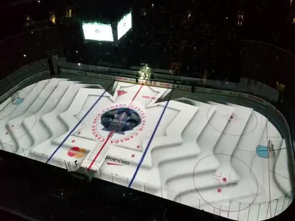 Úžasná projekce před zápasem NHL