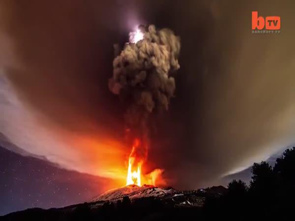 Sopka Etna v akci