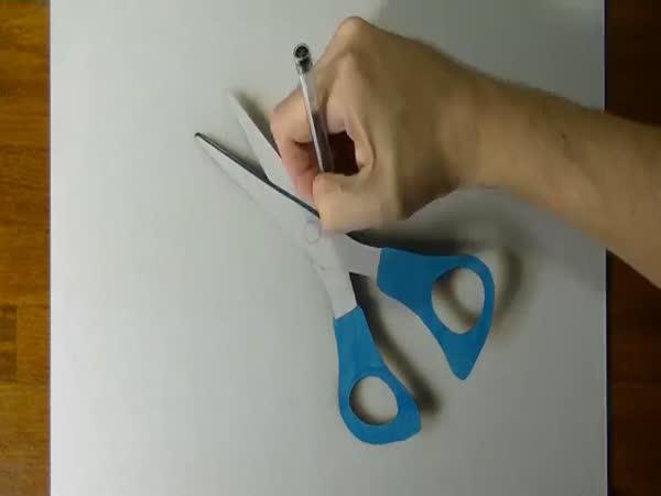Borec - Namalované 3D nůžky