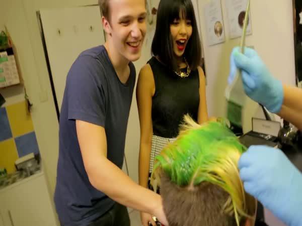 MenT - Barvení vlasů na zeleno