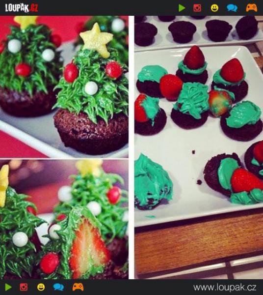 GALERIE - Roztomilé vánoční cupcakes