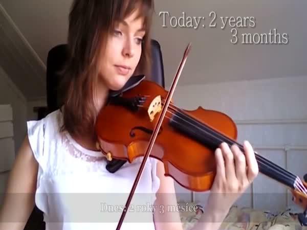 Jak jsem se učila na housle