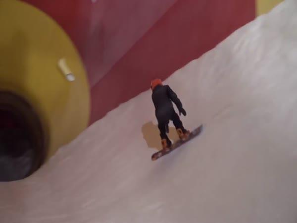 Snowboarding v aquaparku