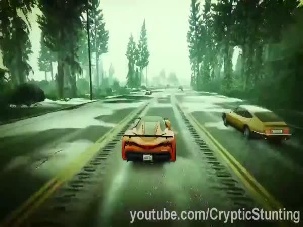 3 šťastné skoky v GTA V