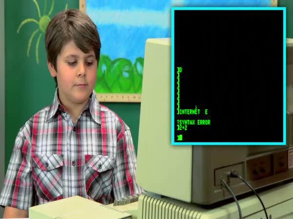 Děti reagují na staré počítače