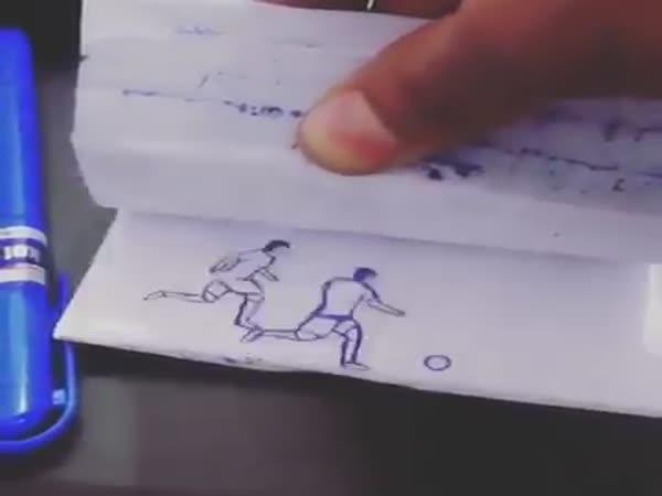 Messi - Kreslená animace v notesu