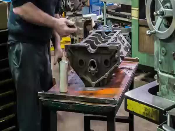 Renovace motoru V8 Chevroletu