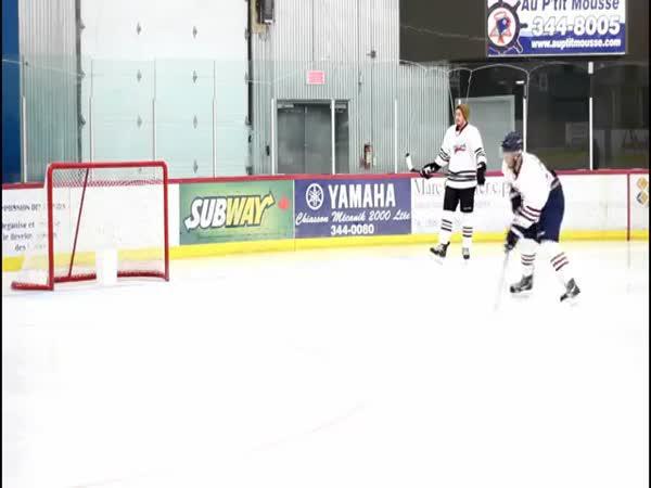 Hokejové triky na tréninku