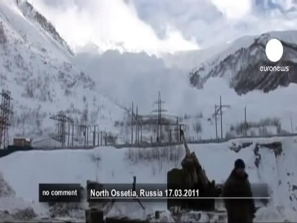 Rusko - Odstřel laviny