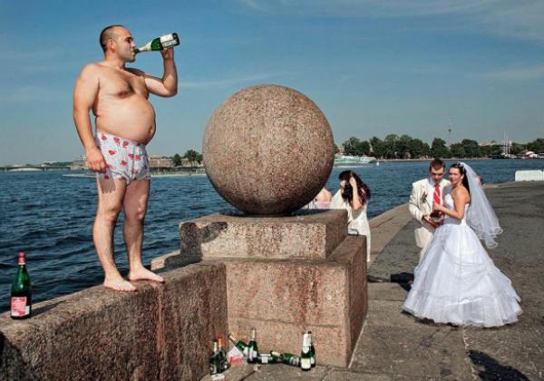 GALERIE - Šílené momentky z ruských svateb