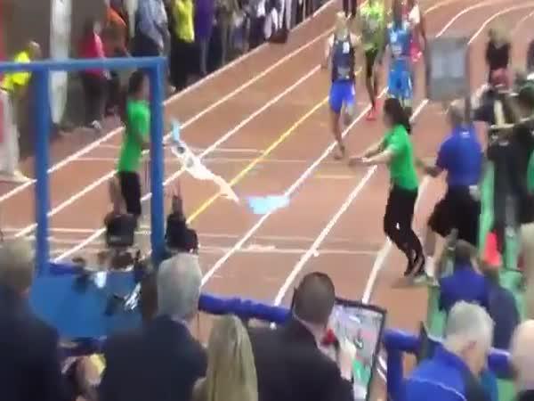 Nepovedený finish závodu