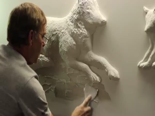 Umění ze sádrokartonových zdí