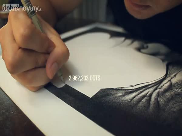 Vytvořil portrét otce z 3,2 milionu teček
