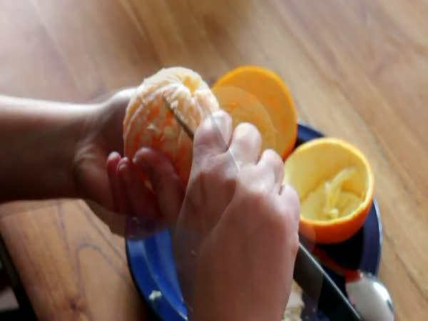 Návod - Efektivní loupání pomeranče