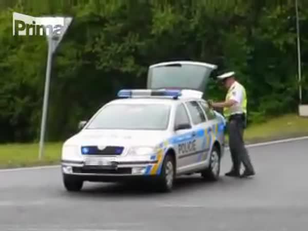 Policie ČR u nehody kamionu s pivem