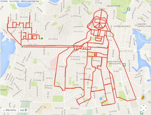 GALERIE - Kreslení pomocí GPS a kola