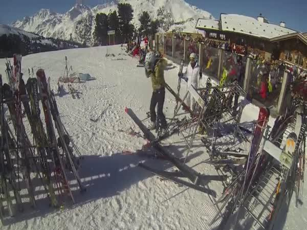 Stylové zastavení na lyžích