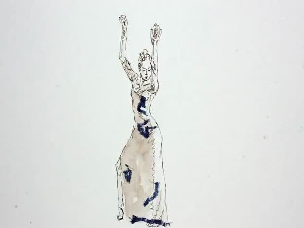 Taneční video složené z 1250 kreseb