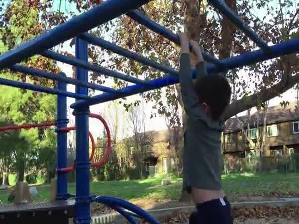Krokodýl na dětském hřišti