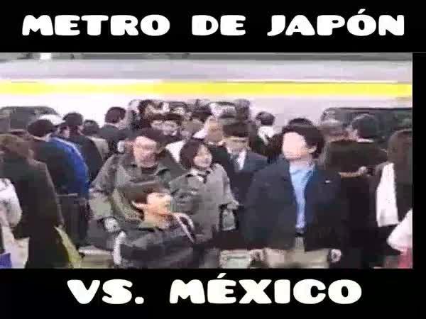Japonské vs. mexické metro