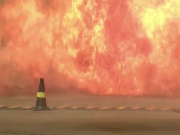 Pokus - pád plynové bomby