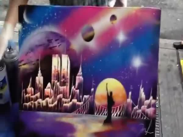 Umělec namaluje obraz za 6 minut