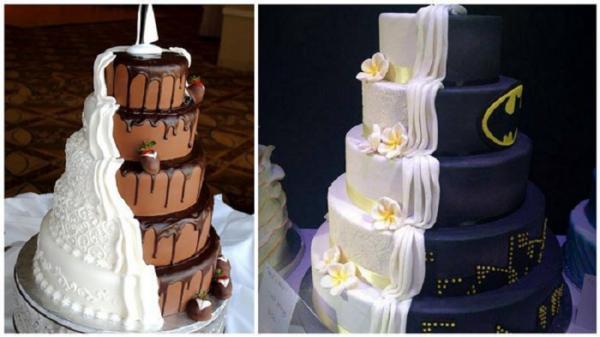 GALERIE - Dvojité svatební dorty