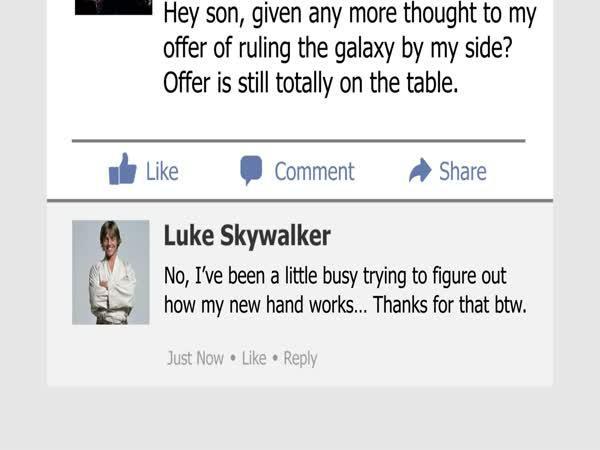 Kdyby Star Wars postavy měly Facebook