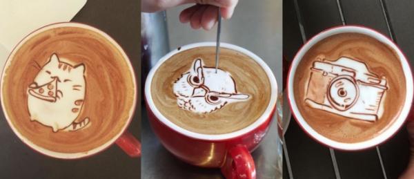 GALERIE - Mistrovské malování do kávy