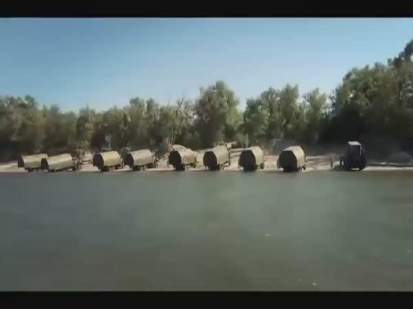 Ruská armáda - Stavba mostu
