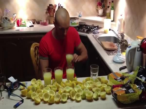 Šťáva z 3 kg citronů