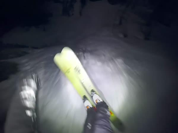 GoPro - Noční lyžování