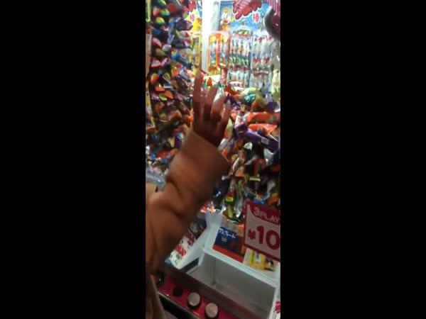 Jackpot v automatu na sladkosti