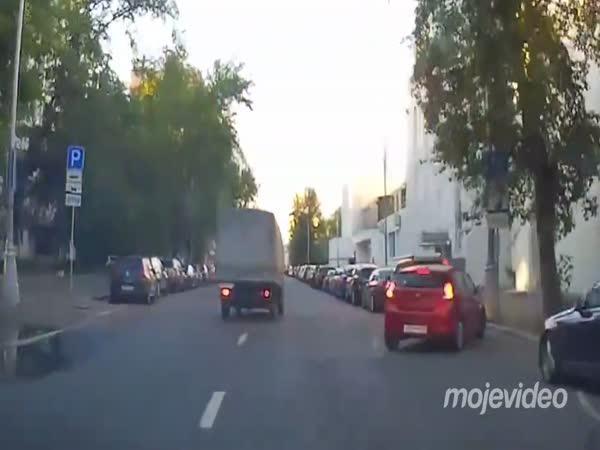 Řidič zabránil nehodě (Rusko)