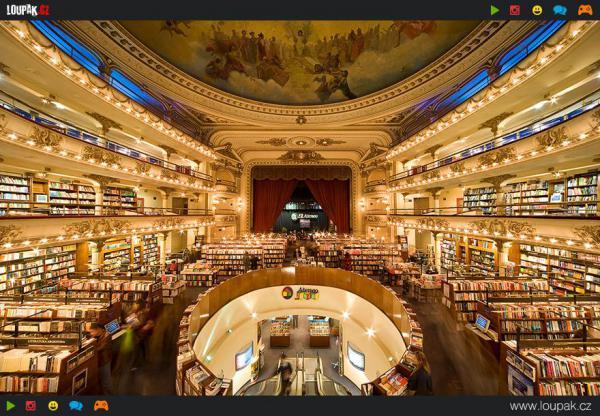 GALERIE - Přeměna divadla na knihkupectví