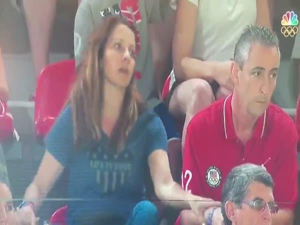 Rio 2016 - Rodiče sledují dceru gymnastku