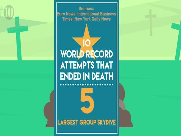 10 smrtelných pokusů o rekord