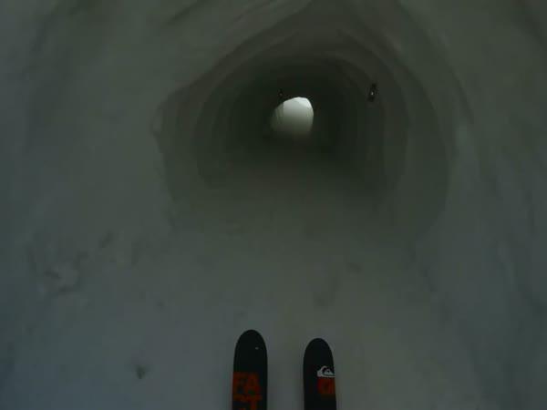 Úžasná jízda na lyžích
