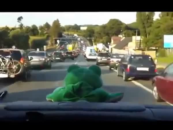 Jízda sanitky k nehodě na dálnici