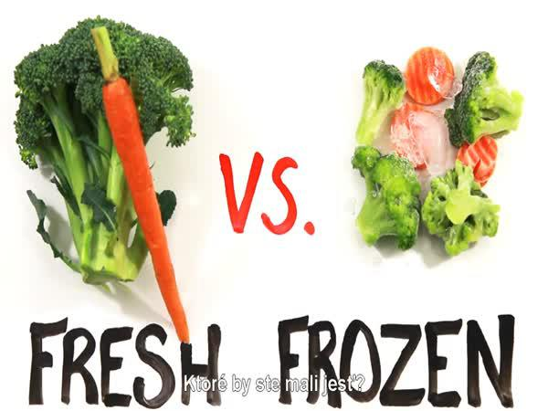 Mražené, nebo čerstvé potraviny?