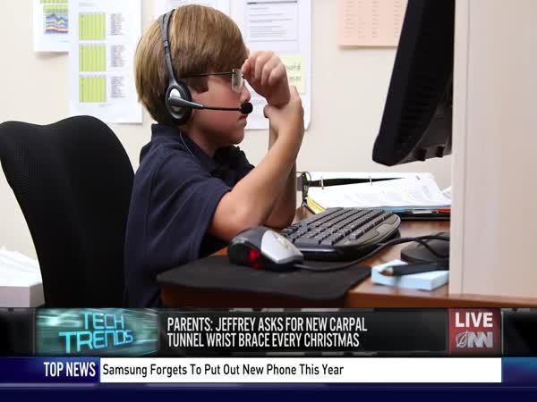6letý zaměstnaný chlapec