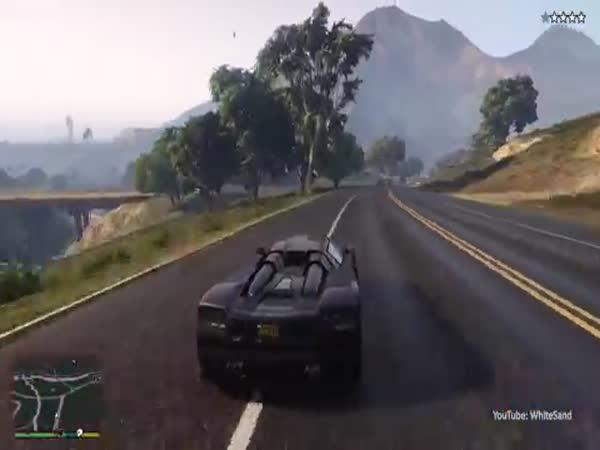 GTA V. - Nejšílenější policejní honička