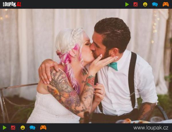 GALERIE - Krásné tetované nevěsty