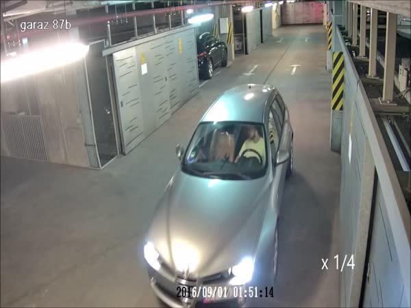 Opilý řidič v podzemních garážích
