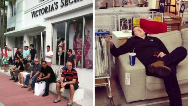 GALERIE - Muži při nákupech